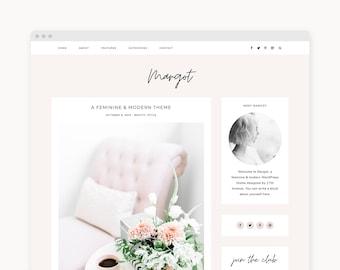 "WordPress Theme - Feminine WordPress Blog Theme - Genesis Theme - ""Margot"" Instant Digital Download"