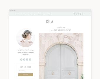 "NEW! WordPress Theme - Modern Lifestyle WordPress Blog Theme - Genesis Theme - ""Isla"" Instant Digital Download"
