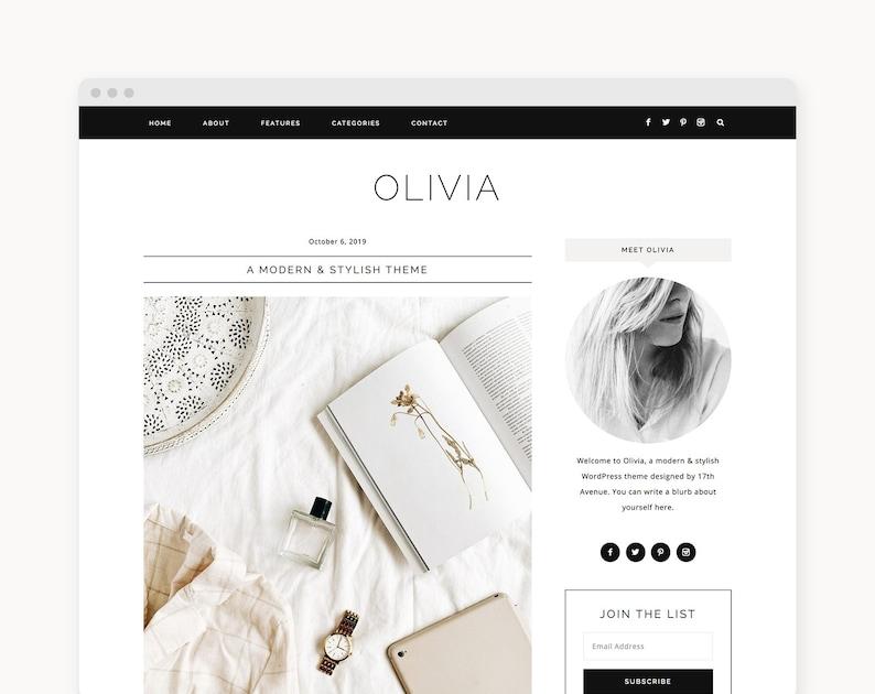 NEW WordPress Theme  Fashion WordPress Theme  Genesis Theme image 0