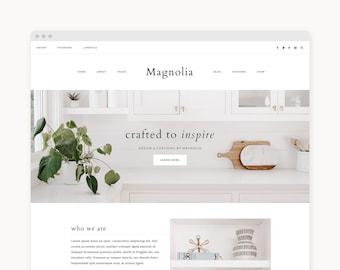 """WordPress Theme - WordPress Ecommerce Theme - Fashion Theme - Genesis Theme - """"Magnolia"""" Instant Digital Download"""
