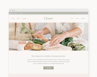 "NEW! WordPress Theme - WordPress Ecommerce Theme - For Businesses, Shops, & Blogs - Genesis Theme - ""Clover"""