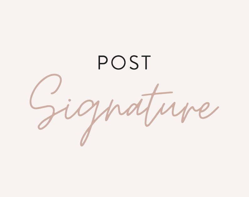 Post Signature  Matching WordPress Theme  Custom Upgrade for image 0