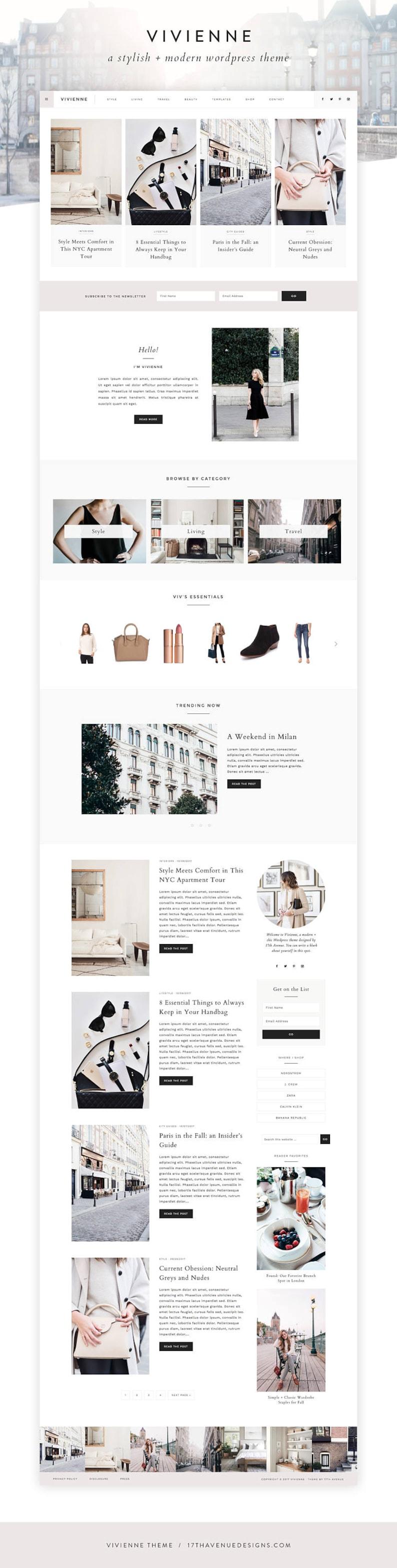 WordPress Theme  WordPress Ecommerce Theme  Photography image 0