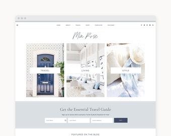 """WordPress Theme - WordPress Ecommerce Theme - Travel, Fashion, & Food Theme - Genesis Theme - """"Mia"""""""