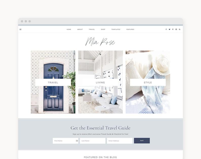 NEW WordPress Theme  WordPress Ecommerce Theme  Travel image 0