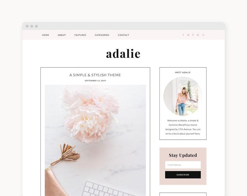 NEW WordPress Theme  Feminine WordPress Theme  Genesis image 0