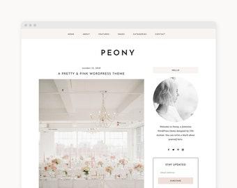 "WordPress Theme - Feminine WordPress Blog Theme - Genesis Theme - ""Peony"" Instant Digital Download"