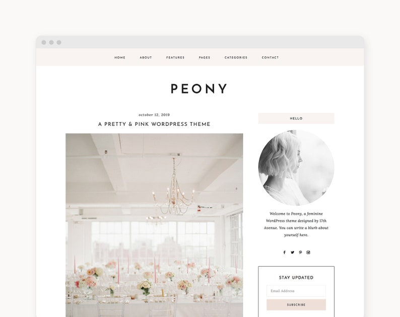 NEW WordPress Theme  Feminine WordPress Theme  Genesis image 0
