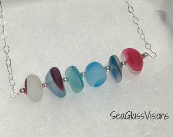 English Multi Pendant, Rare Colors, Sea Glass Pendant, Seaham Beach, Necklace, English Sea Glass, Colorful Sea Glass, Sterling Silver