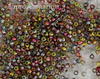 Magic Apple O Rings Priced per Bag 5 Grams per Bag 2x4mm Czech Glass