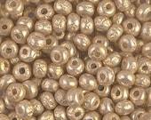 3784R 6 0 Miyuki Gold Baroque Pearl - Irregular Round Seed Beads - Miyuki 6-3953 Gold Baroque Pearl Irregular Round Seed Bead - 7 Grams