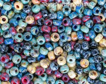 5757 - Exclusive 6/0 Miyuki Mediterranean Landscape 6 Seed Bead Mix - 16 grams -Miyuki 6/0 Mediterranean Landscape Mix