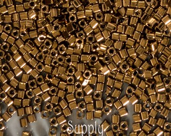 Bronze Cube Bead - 5 grams - 3274 - 1.5mm Square Beads - 1.5mm Bronze Cubes - Toho 1.5mm Bronze Cube Beads