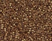 DB22L- Metallic Light Bronze 11 0 Miyuki Delica Seed Beads, 5 Grams, 11 0 Metallic Light Bronze Delica Beads DB-22L