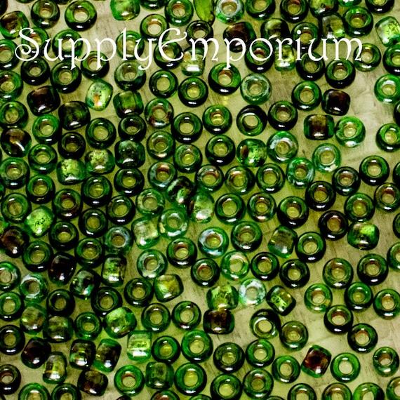 Peridot Green AB Toho Japanese Seed Beads 10g Size 11//0 2.2 mm