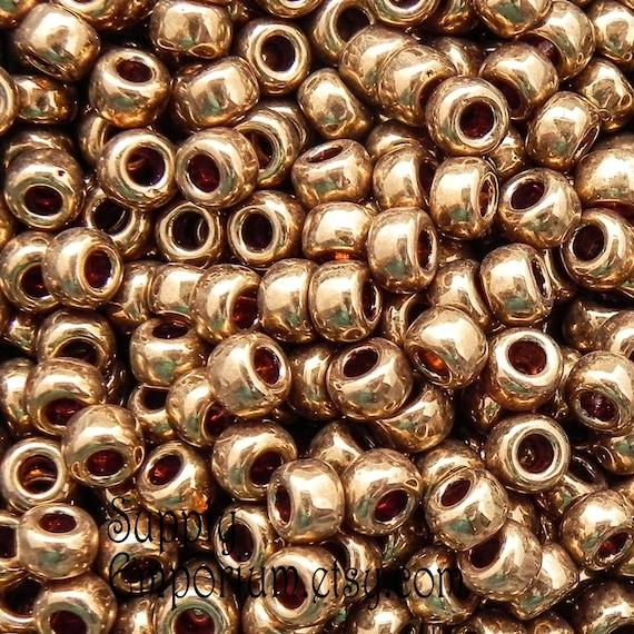 Seed Beads-80 Round-457L Metallic Light Bronze-Miyuki-16 Grams