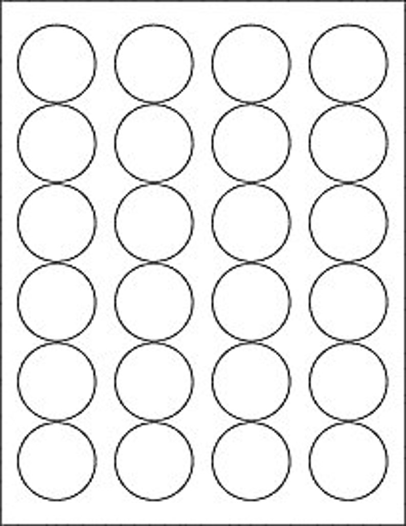 It is a picture of Circle Printable Labels with round shape sticker