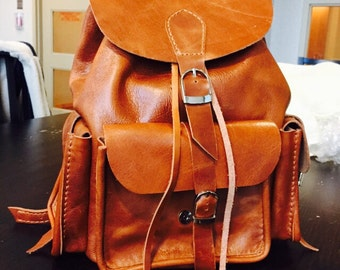 MyMate Mini - Hand-Stitched Leather Backpack Purse with Three Pockets