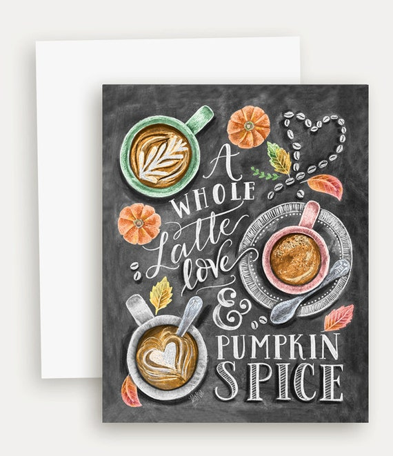 Pumpkin Spice Latte Fall Card