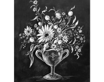 Still Life in Chalk No. 2 - Print - Fall Decor - Chalkboard Art - Still Life Art - Illustration Print - Autumn Decor