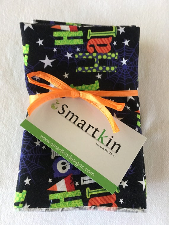 Black Colorful Halloween Sayings Napkin by Smartkin