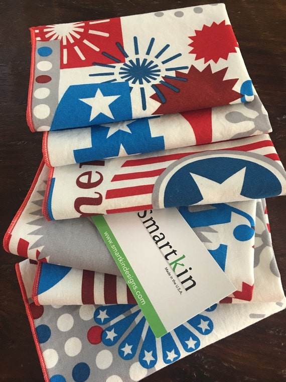 4th of July Patriotic Napkin 12x15 in Size by Smartkin