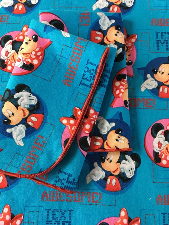 Mickey and Minnie All Cotton Lunch Box Napkin 12x15 in Size by Smartkin