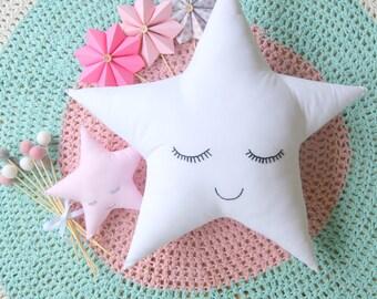 Large Sleepy Star Cushion