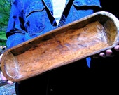 Wooden Dough Bowl, Treenware Bread Trencher, 19 1 8 inches, bowl 2171