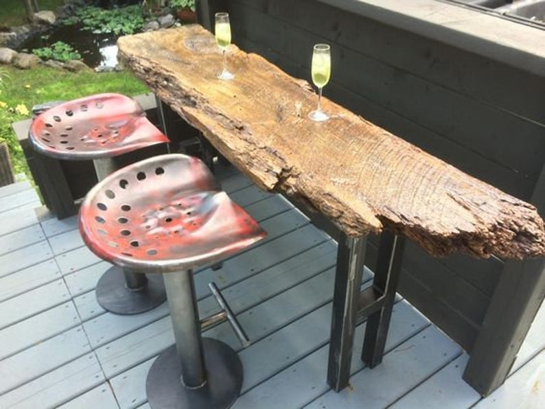 great for bar stool tops 2 RED distressed Steel tractor seat s New Old Style