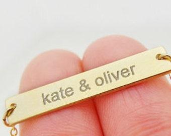 Personalized bracelet, Couple Jewelry, Christmas Gift, Bar bracelet, friendship bracelet, Initial bracelet, bridesmaid gift, love bracelet