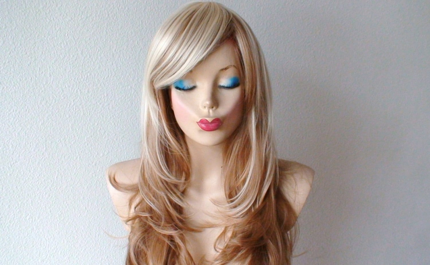 Platinum Blonde Light Brown Ombre Hair Wig Blonde Ombre