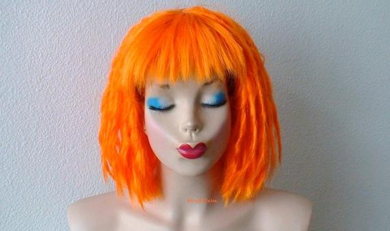 Short Orange Wig Dreadlocks Hairstyle Wig Orange Hair Cosplay Wig Costume Wig Adult Halloween Wig Costum Wig