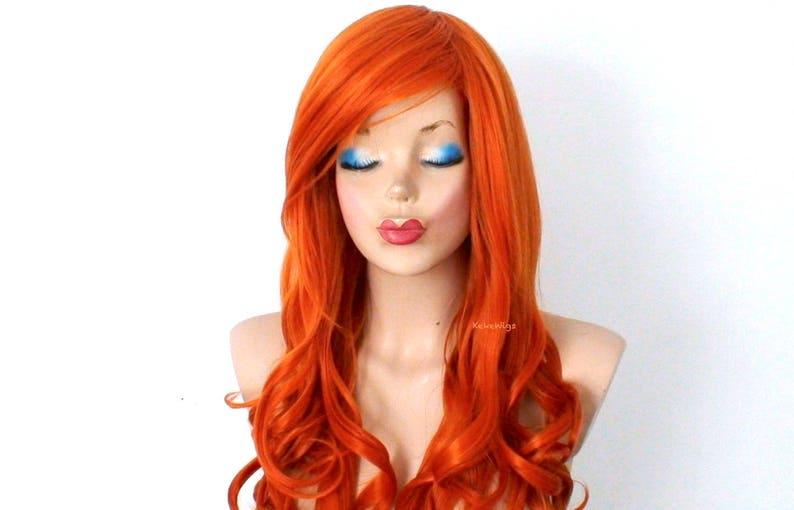 Perruque de cheveux roux. Perruque Orange