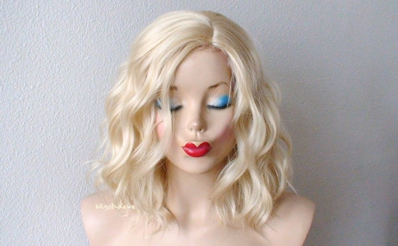 Blonde Wig Lace Front Wig Short Blonde Wig For Women Etsy