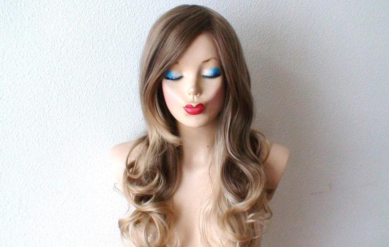 Ash Brown Dirty Blonde Blond Cendré Ombre Perruque Côté Etsy