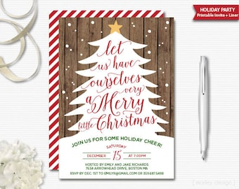 Christmas Invitation Rustic Holiday Party Invitation Holiday Invitation Christmas Party Christmas Tree Printable Digital Rustic Christmas