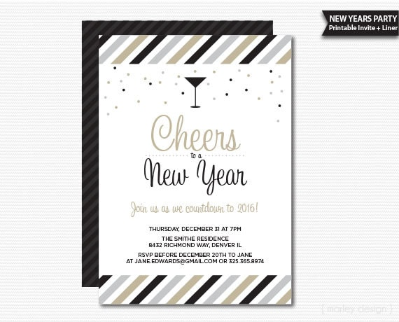 new years invitation new years party invitation printable new