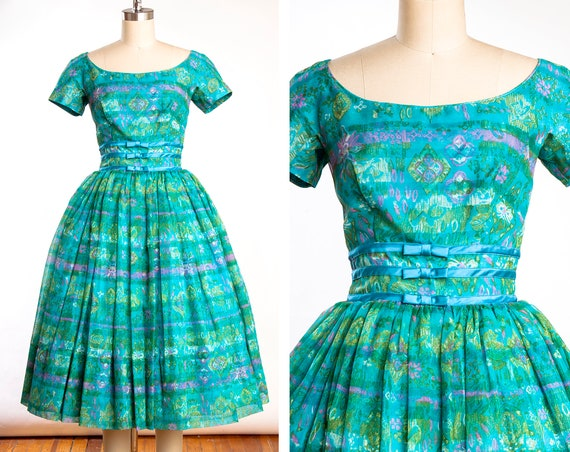 Vintage 1950s GiGi Young Chiffon Party Dress / Cri