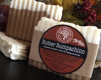 BUTTER RUMPACHINO-Soap-Vegan-Gluten Free-Sweet-Coffee-Cappuccino-Smooth and Bubbly-