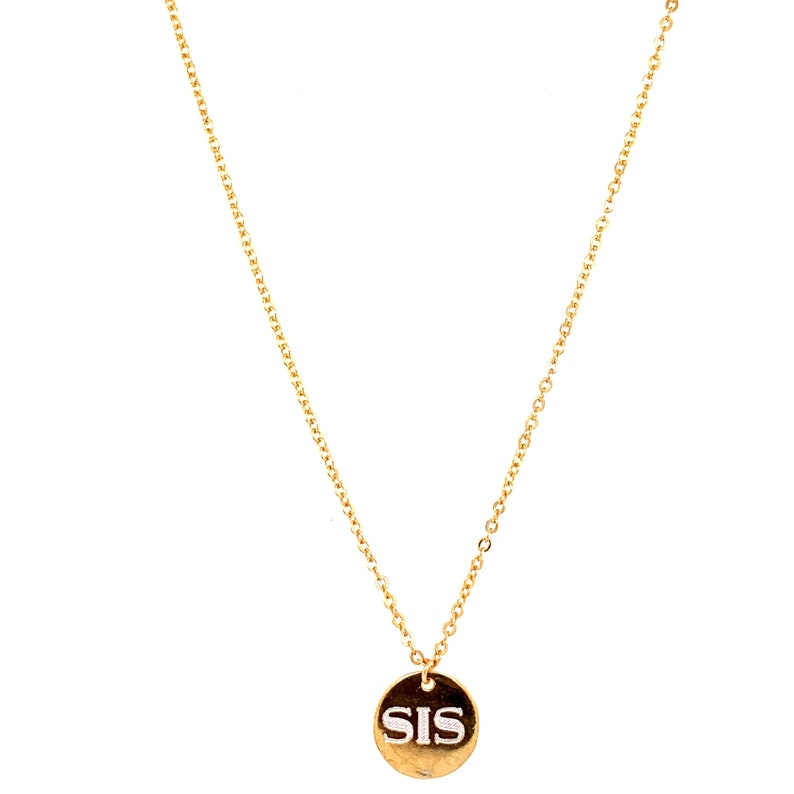 Engraved Name Necklace,Sister Gift,Gift for Mom,Mom Necklace,Gift for Mom,Birthday Gift for sister,Initial Necklace,Sis,In Memory of Mom Dad