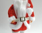 Santa Claus doll figure wind-up semi-animated musical plays Jingle Bells Christmas kitsch retro decoration new old stock original box c 1960