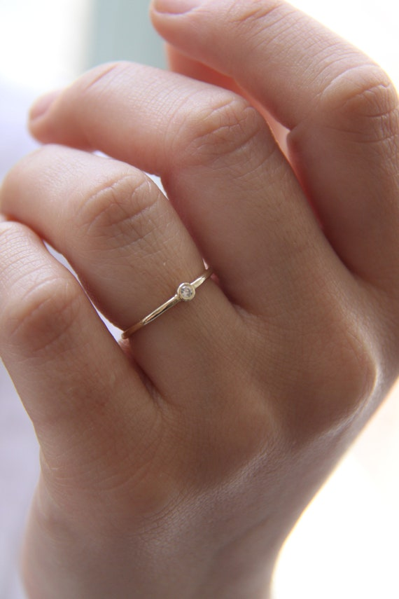 Thin Wedding Band Classic gold band 2mm ultra thin ring Dainty wedding band Classic wedding ring gold Stacking ring 14k Gold Ring