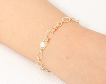 Delicate Gold Bracelet Dainty Chain bracelet Layered Bracelet bridesmaid gift 24k gold plated jewelry.