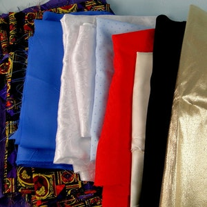 Vintage Scrap Fabric Lot Cotton Polyester Rayon Blends Two Pounds