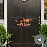 Hello Fall Arrow Pumpkin Door | Vinyl Wall Home Decor Seasonal Autumn Decal Sticker