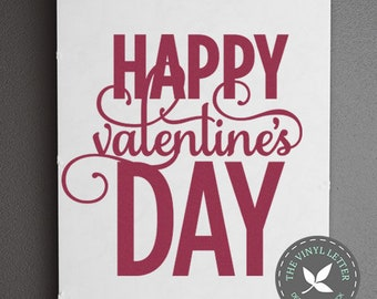 Happy Valentines Day | Love Vinyl Wall Decal Home Decor Sticker