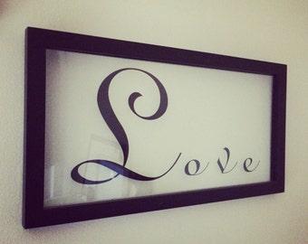 16x8 custom love floating frame