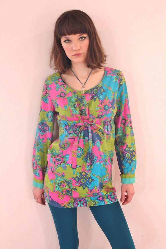 Psychedelic 60's Micro Mini Dress
