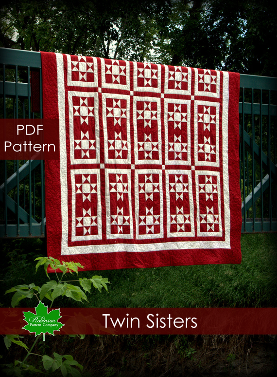 Twin Sisters Quilt Pattern PDF Instant Download Of A Modern